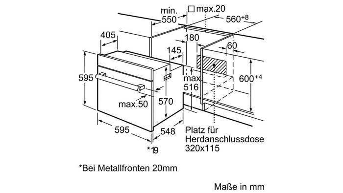 eq231wk01 herd set a 66l 6 heizarten glaskeramik kochfeld. Black Bedroom Furniture Sets. Home Design Ideas